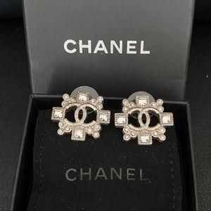 CHANEL Crystal Earrings